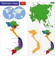 Vietnam map vector image vector image