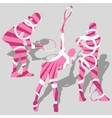 womens tennis sport silhouettes vector image