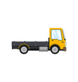 yellow mini lorry without load isolated vector image