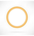 yellow paper circle vector image vector image