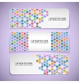 Colorful banners with hexagons vector image
