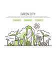 green city banner vector image