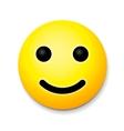 Yellow laughing happy smile emoji smile symbol vector image