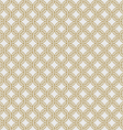 Gold chain armor seamless pattern vector image