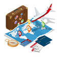 travel and tourism background flat 3d vector image