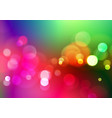 abstract bokeh light on colorful background vector image