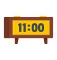 alarm clock retro icon flat style vector image vector image