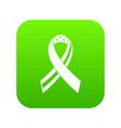 american ribbon icon digital green vector image vector image