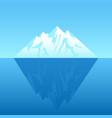 an iceberg vector image