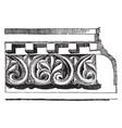 anthemion frieze venice byzantium vintage vector image vector image