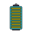 battery level isolated icon design vector image vector image