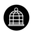 bird cage icon design vector image
