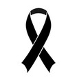 black awareness ribbon vector image vector image