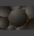 black bronze circles abstract corporate background vector image vector image