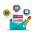 Blog icons design vector image vector image
