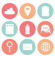 Business Flat circle icons vector image vector image