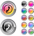 Call multicolor round button vector image