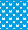cat in a cardboard box pattern seamless blue vector image