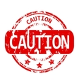 Caution rubber stamp vector image