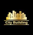 city building lanscape symbol vector image