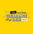 clearance sale banner in cartoon style for digital vector image