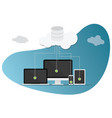 cloud computing technology with various devices vector image vector image