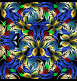 colorful floral 3d seamless pattern vector image vector image