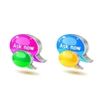 colorful help bubble chat icon vector image vector image