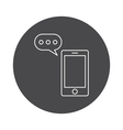 Communication icon outline vector image vector image