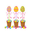 eggs tree easter traditional element religious vector image vector image