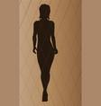 fashion model walking vector image vector image