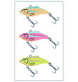 fishing lures vector image vector image