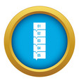 five steps infographic icon blue isolated vector image