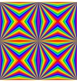 geometric rainbow seamless pattern vector image