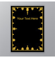 golden black simplified classic ornate vector image vector image