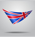 great britain flag background vector image vector image
