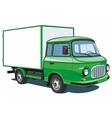 Green delivery truck vector image vector image