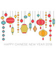 happy chinese new year banner vector image