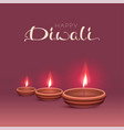 happy diwali text greeting card indian festival vector image vector image