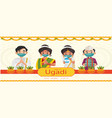 happy ugadi banner design vector image