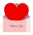 heart shape on a letter valentine day vector image