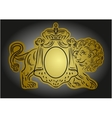 heraldic with crown and lion vector image vector image