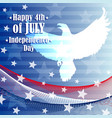 independence day 4 th of july vector image vector image