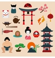 Japan travel vector image vector image