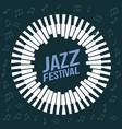 jazz festival poster music event invitation vector image vector image