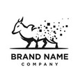 logo cow processing technology vector image