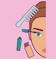 makeup and cosmetics design vector image