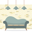 Modern Flat Design Sofa Interior vector image