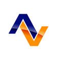 modern initial av symbol logo design vector image vector image