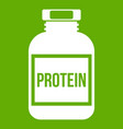 nutritional supplement for athletes icon green vector image vector image